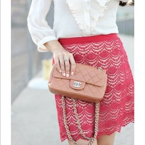 Club Monaco Red Lace Jayne Mini Skirt